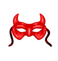 carnival mask with horns isolated on a white vector image