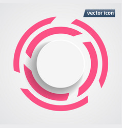 circle flat design vector image