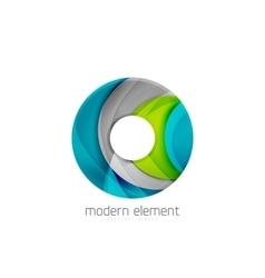 Circle or ring element logo with bold relief vector image