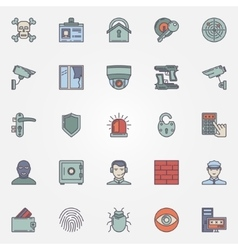 Colorful security icons vector image