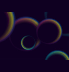 colorful smooth galaxy circles abstract background vector image
