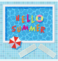 colorful summer background with swimming pool vector image