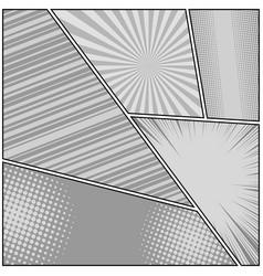 comic book monochrome original background vector image