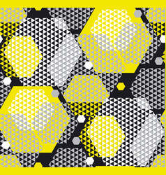 Concept modern geometry pattern with yellow and vector