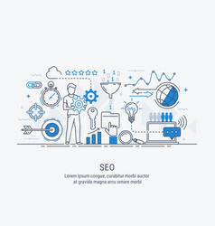 concept seo optimization in search engine vector image