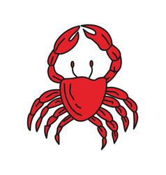 crab sea design graphic template vector image