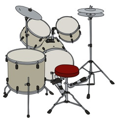 Cream percussion set vector image