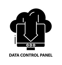 Data control panel icon black sign with vector
