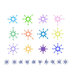 Decoration stars vector