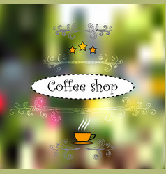 Design for cofee shops vector