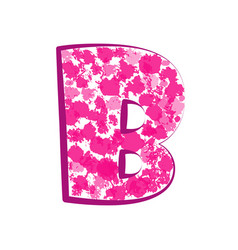 english pink letter b on a white background vector image