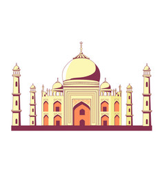 Famous indian building of taj mahal vector