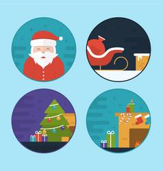 flat christmas scene vector image