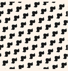 funky seamless pattern with simple curved shapes vector image