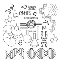 Genetic research set vector