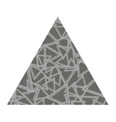 grey textured triangle vector image