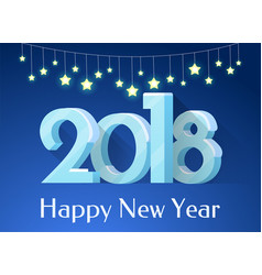 happy new year banner stars vector image