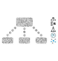 Hatch mosaic hierarchy icon vector
