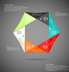 Hexagon origami infographic vector