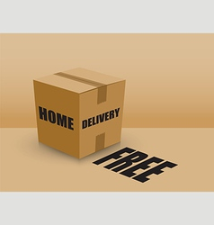 Home delivery box vector
