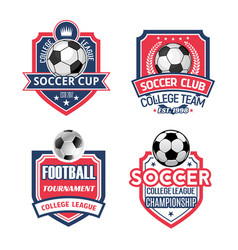 Icons for soccer cup or football sport club vector