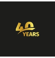 Isolated abstract golden 40th anniversary logo on vector