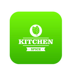 kitchen spice icon green vector image