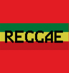 Knitted texture in reggae colors vector