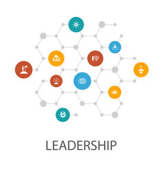 Leadership presentation template cover layout vector