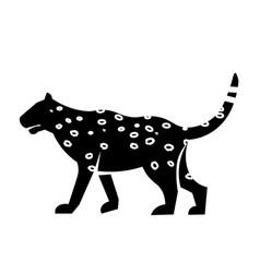 leopard icon vector image
