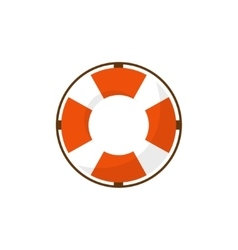 Lifebuoy in a flat style Protection equipment for vector image