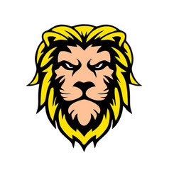 lion head design concept outline wild vector image