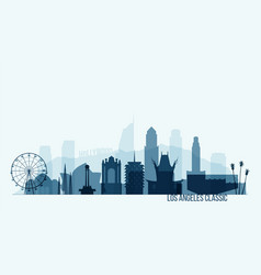 los angeles skyline buildings vector image