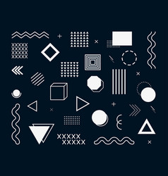 memphis geometric abstract background modern vector image