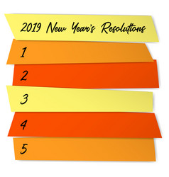 New year resolutions sticky notes template vector