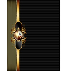ornate golden frame vector image