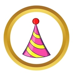 Party hat icon cartoon style vector