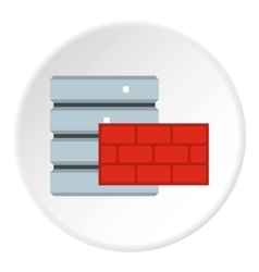 Protection of database systems icon flat style vector