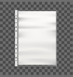 realistic detailed 3d cellophane business file and vector image