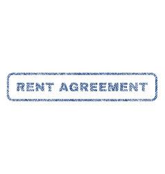 Rent agreement textile stamp vector