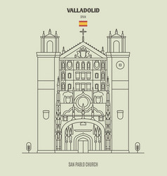 san pablo church in valladolid spain vector image