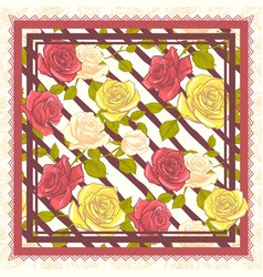 Scarf floral pattern design vector
