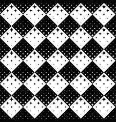 seamless black and white curved star pattern vector image