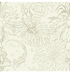 seamless wallpaper with flowers vector image