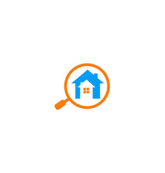 search house realty logo vector image