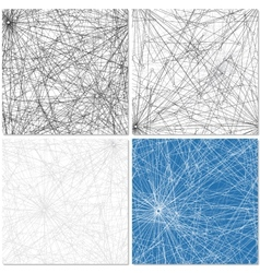 Set of Four Web Patterns vector