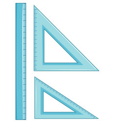 Set of geometry ruler vector