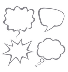 set speech bubbles isolated on white back vector image