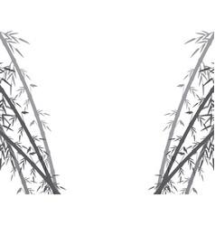 Spa fresh bamboo leaves border botanical zen vector