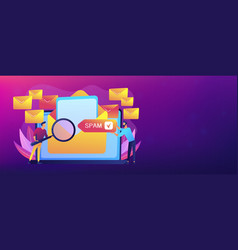 spam concept banner header vector image